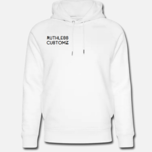 Ruthless Customz hoodie white